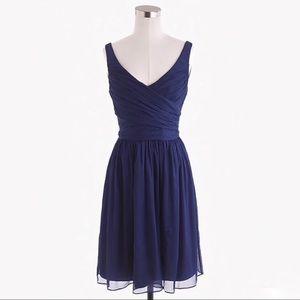 J. Crew Silk Heidi Bridesmaid Dress Navy Blue 4